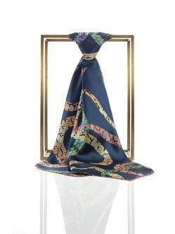 蛇纹丝绸女士方巾