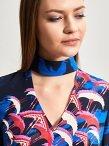 Silk Crane Print Dress