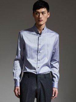 无缝立领衬衫