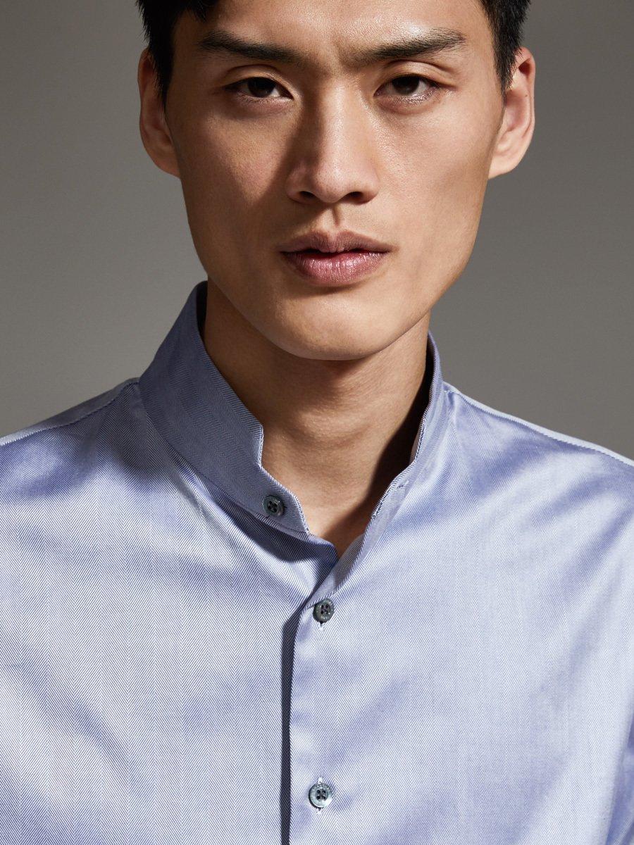 Seamless Stand Collar Shirt