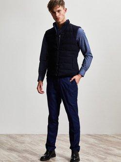 棉质羊毛涤纶羽绒背心