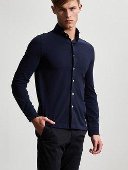 棉质高档珠地布衬衫
