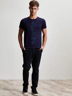 龙纹刺绣棉质T恤