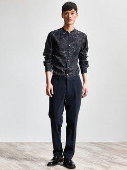 棉质针织西装裤